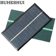 BUHESHUI Wholesale 1W 6V Solar Cell Module Polycrystalline DIY Solar Panel Charger Education 110*60MM 300pcs/lot factory supply
