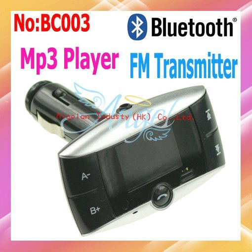 Wholesale Car MP3 Player Kit Bluetooth FM Transmitter with 1.4 Inch LCD display call ID #BC003