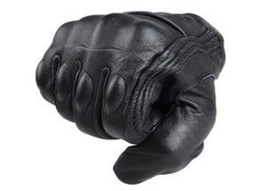 Image 3 - Motorcycle Gloves Outdoor Sports Full Finger Motorcycle Riding Protective Armor Black Short Leather Gloves gym For Men For Women
