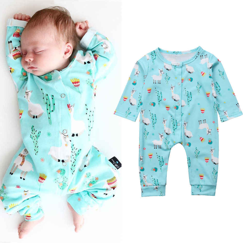 5a2a81f1af ... Lovely Newborn Baby Boys Girls Blanket Sleeper Fashion New Long Sleeve  Animal Print Pajamas Casual Cotton
