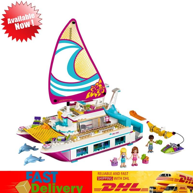 Lepin 01038 Amico Sole Catamarano Modello di Mattoni Da Costruzione Blocchi di Giocattoli Educativi per I Bambini Compatibile LegoINGlys 41317