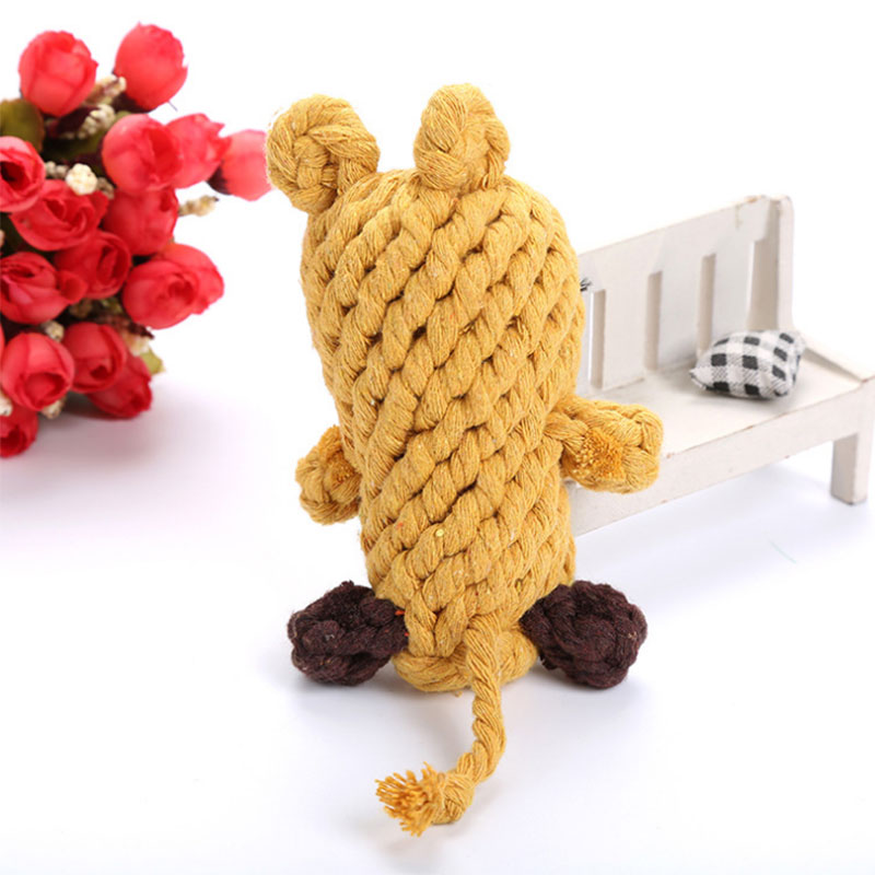 Cotton Rope Braided Rat Mouse Knot Pet Chew Toy Cat Dog Tooth Cleaning Puppy Molars Toys Hot Sale