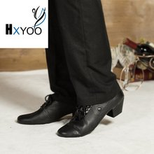 HXYOO 2017 New Model Black Men Latin Dance Shoes Ballroom Shoes Salsa Tango Boys L073