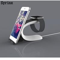 Syrinx-Base de carga múltiple 2 en 1, estación de acoplamiento, soporte de cargador para Apple Watch, iPhone, teléfono móvil, tableta