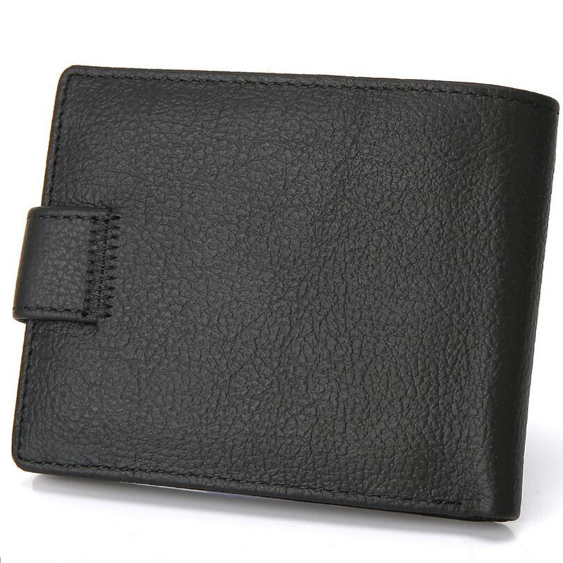 100% äkta läder plånböcker för män Korta Purse Cowhide Läder - Plånböcker - Foto 2