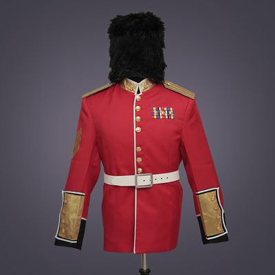 prince william red color medieval suit including top jacke trousers and hat prince charming costume