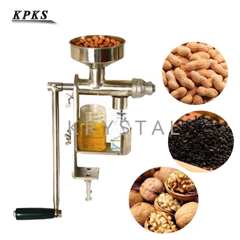 Manual de Imprensa de Óleo Doméstico Máquina Extrator de Óleo de Bagaço de Óleo de Sementes de Amendoim Nozes Presser HY-03