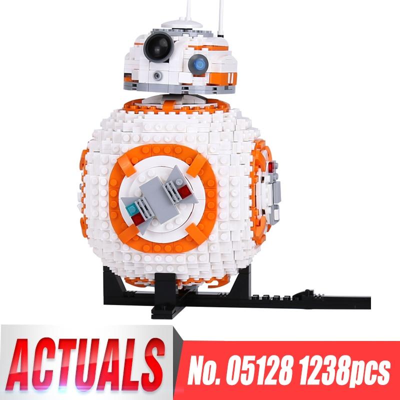 Lepin 05128 Two B8 Robot Set Star Genuine 1238Pcs legoinglys 75187 Set Building Blocks Bricks Wars Toys for Boy Christmas Gifts цена