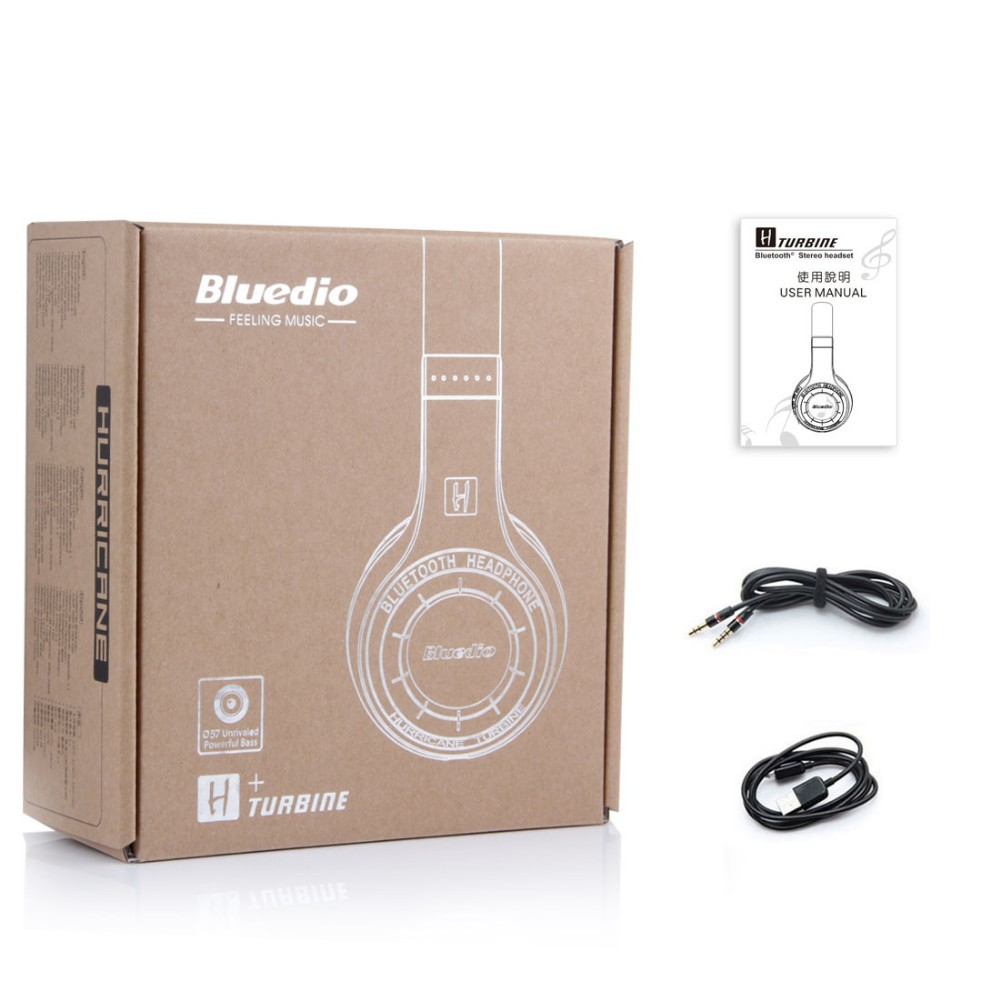 Orignal Bluedio H+ Bluetooth Stereo Wireless headphones Mic Micro-SD port FM Radio BT4.1 Over-ear headphones free shipping стоимость