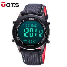 OTS zegarki sportowe męskie 30m wodoodporny cyfrowy zegarek LED w stylu wojskowym moda męska Casual zegarek elektroniczny