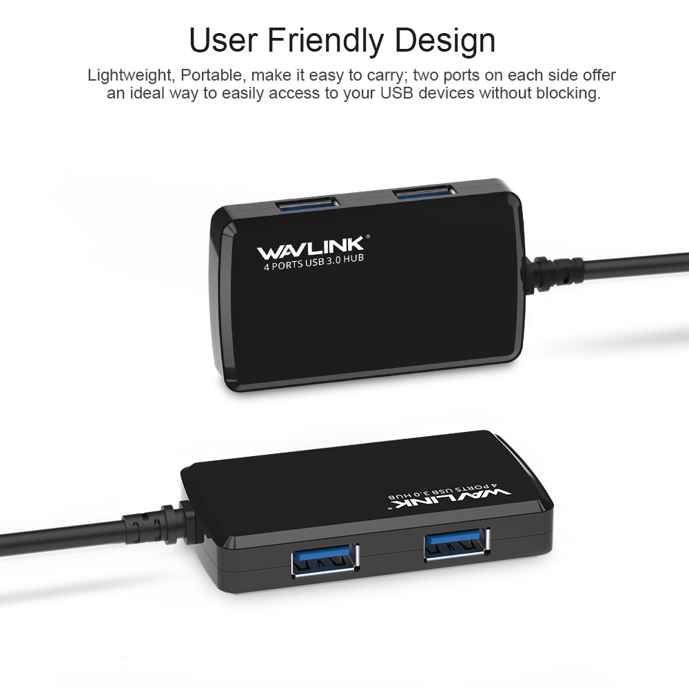 Wavlink USB 3.0 HUB 4 port suure kiirusega 5Gbps USB hubeldusseadme - Arvuti välisseadmed - Foto 5