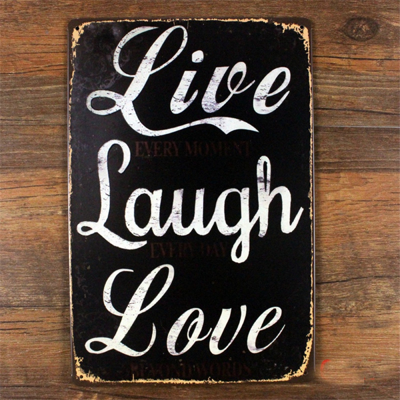 Metal Home Decor About Live Laugh Love Tin Signs Vintage Decorative Plaques For Bar Wall Art Craft 20x30cm Sp Qx 011 In From