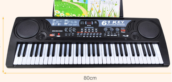 2017 Baby Piano 61 Keys With Microphone Children Multi-purpose Teaching Toys Piano Girl BOY