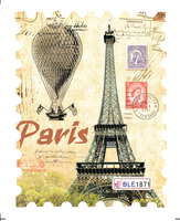 BLE1871 Scenic Spot Eiffel Tower Stamp Designs Nail Sticker Full Cover Nail Art Water Transfer Sticker Decal Decoration1 Sheet