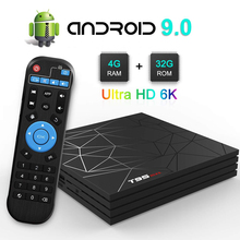 купить T95 max Android 9.0 TV Box 6K Ultra HD H6 quad core cortex-A53 4GB+32GB 2.4GHz Wifi Support Google Player Youtube Smart Tv Box дешево