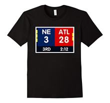 NE 3 ATL 28 NE 34 ATL 28 Final T-shirt 2 Sides To 1 Game T Shirt Short Sleeve Top Casual T-Shirt Male Short Sleeve Pattern(China)