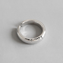 HFYK 2019 New Simple Letters Ring 925 Sterling Silver Rings For Women Jewelry bague femme argent anillos mujer