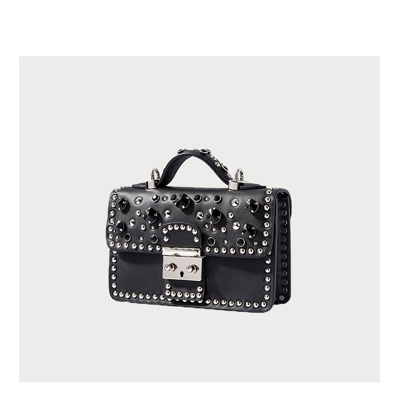Mode femmes Messenger sac nouvelle marque en cuir véritable femme sac à bandoulière de luxe diamant femme sacs à main sangle sacs blanc - 2