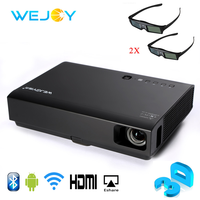 Wejoy 3D Laser&LED Mini Projector DL-310 Android Full HD 1080P 3D Video Smart Home Cinema Theater DLP Android Portable Projector цены