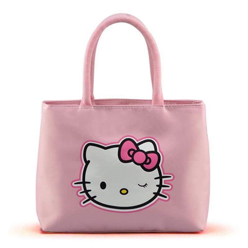 5790cafc02 New 2016 Fashion Hello Kitty Handbag for Women Oxford Shoulder ...
