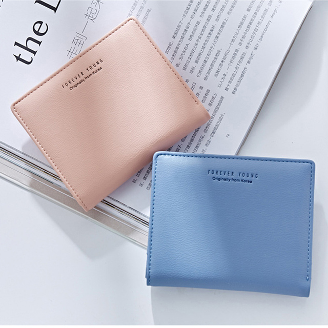 WEICHEN Thin Style Women Wallets Zipper Coin Bag in Back Blue Soft Leather Ladies Card Holder Slim Purse Female Wallet Small HOT 6