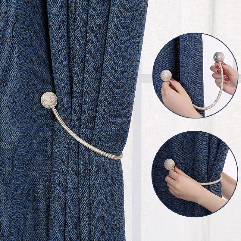 Simple Moderne Aimant Rideaux Cravate Boucle Fenêtre Rideaux ...