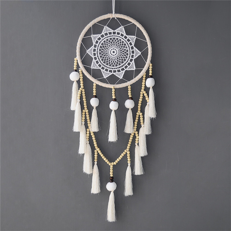 Nordic Dream Catcher Macrame Dream Catcher Youngsters Women Room Ornament Hanging Dwelling Wall Ornament Marriage ceremony Ornament