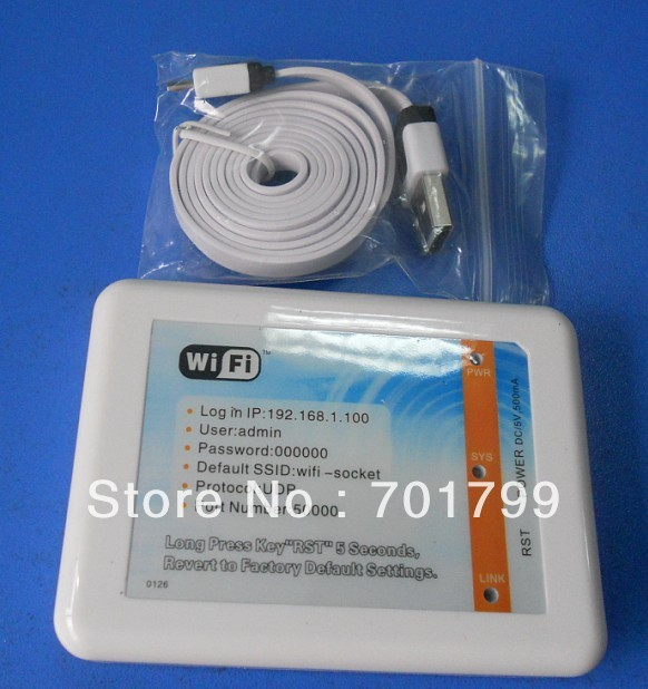 LED Wifi controller operated by iPhone and Android smart cell phone