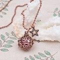 DoreenBeads Ожерелье Мяч Цепь Античная Медь Мексиканская Bola Angel Caller Желание Box Star Подвески Полые Резные 67.5 см