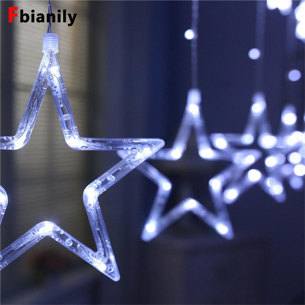 138 Led 2 5m Moon Star Fairy Lights Christmas Star String