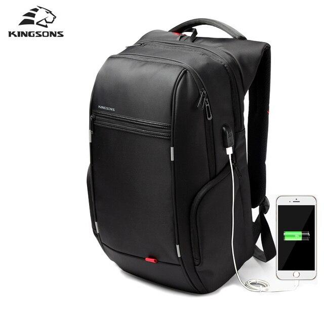 Kingsons 13 3 15 6 17 Inch Notebook Backpack For Men Women Laptop Computer Bag