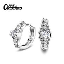 Water Drop Design 925 sterling silver  Women Earrings Fashion Jewelry CZ Stone Micro Paved Luxury Earrings for Wedding Engagemen