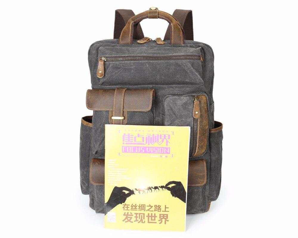 Для мужчин рюкзак для ноутбука 15 дюймов рюкзак холст школьная сумка туристические рюкзаки для подростков мальчиков Тетрадь Bagpack компьютер ...