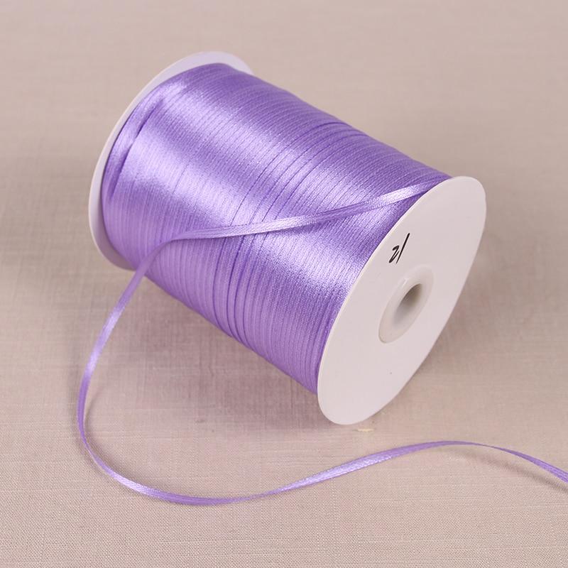 22 м/лот 3 мм атласные ленты для свадьбы День рождения коробка шоколадных конфет подарочная упаковка ленты Рождество Хэллоуин Декор - Цвет: Светло-фиолетовый