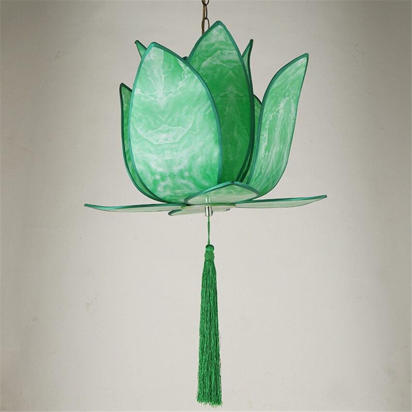 Classic Green Led Pendant Lamp China Metal Fabric Vintage