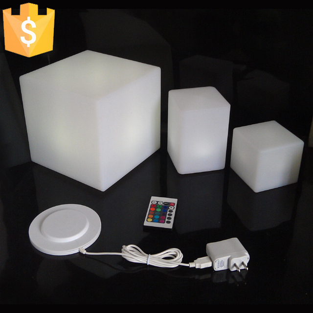 D20CM Lluminated LED Cube Chair Mini Led Light Cube Chairs For Kids  Colorful Light Up Cube