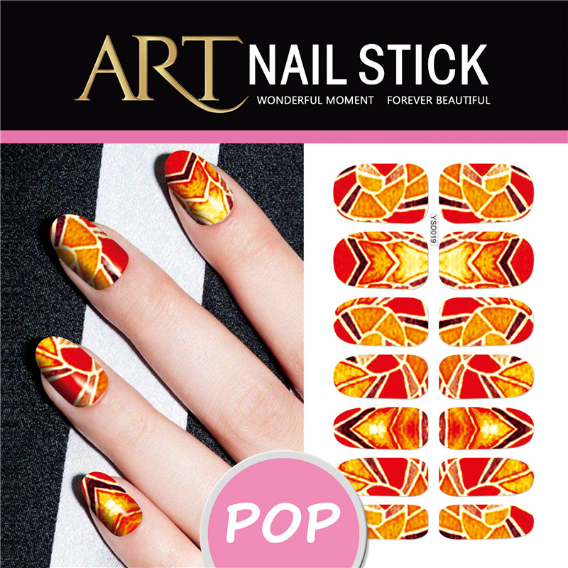 Nail Art Water Transfers Nails Stickers Red Simple Designs