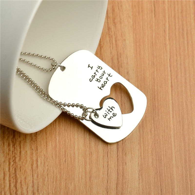 Sentimental Wedding Gift For Husband : Gift Heart Cut Off Pendant Necklace Couple Wedding Gift For Husband ...