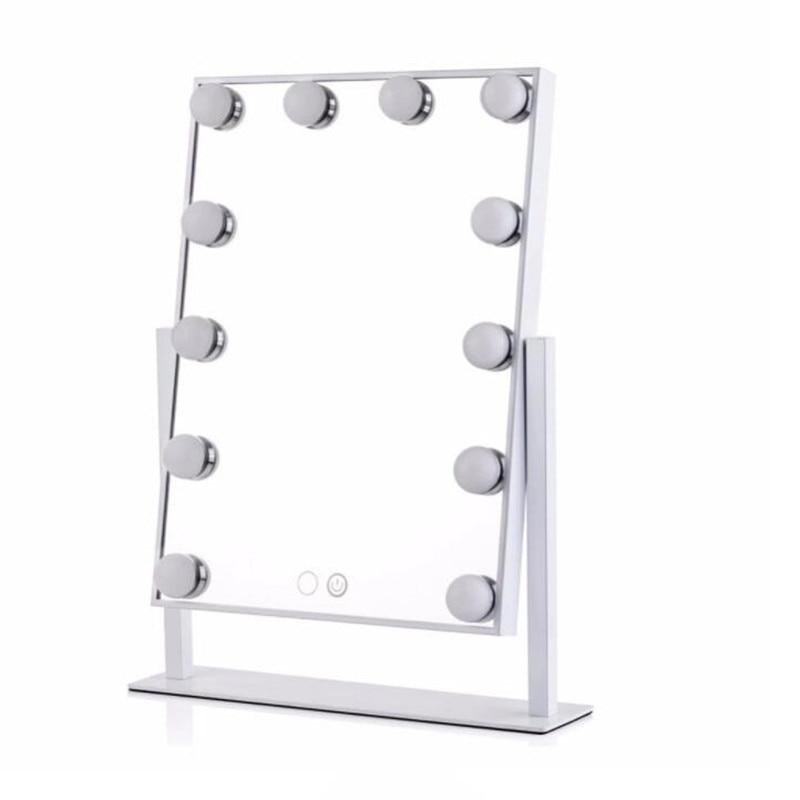Голливуд свет зеркало с 12 светодиодные лампы 360 градусов вращения make up led зеркало