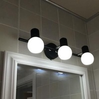Bath Vanity Lights in Matte Glass Shades, Bath Wall Lights, 3 Lights Bath Wall Lamp, Bulbs Sales Separately