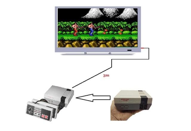 Mini TV Console de Jeu Vidéo Jeu Console Pour Nes 8 Bits Des Jeux avec 400 Jeux Intégrés Double Gamepads Supporte PAL et NTSC