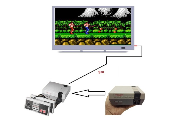 tv video game. mini tv game console video for nes 8 bit games with 400 built- tv