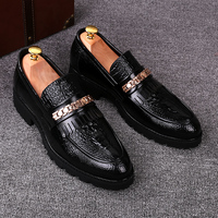 Men Vintage Wedding Party Breathable Genuine Leather Brogue Shoes Carved Bullock Slip On Driving Oxford Shoe