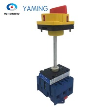 Yaming Isolator switch with padlock 63A 3 Phases 2 position on-off aluminium bar rotary cabinet YMD11-63B