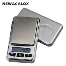 NEWACALOX 500g x 0.1g Mini Digital Scale for Gold Bijoux Sterling Silver Jewelry Scale Precision Balance Digital Pocket Scale