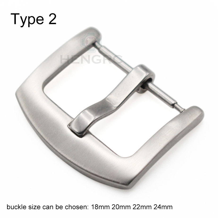 18 20 22 23 24mm Metal Buckle Watch Strap Band Wholesale Solid Stainless Steel Silver Black Brushed Watchbands Clasp Accessories