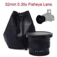 52mm 0 35x Super Fisheye Wide Angle Lens For Cannon Nikon Sony Fuji Cameras