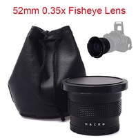 52mm 0 35x Super Fisheye Wide Angle Lens For Cannon Nikon Sony Fuji Cameras