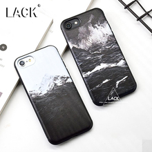 LACK Cartoon Snow Mountain Painting Case For iphone 6 Case Seamount Volcano Erupt Cover Soft Phone Cases For iphone 6S 6 Plus
