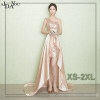 Frauen Abend lange Kleider unregelmäßigkeit schulter bodenlangen Schlank pailletten vestido Formal Besondere Kleid plus größe ouc1200
